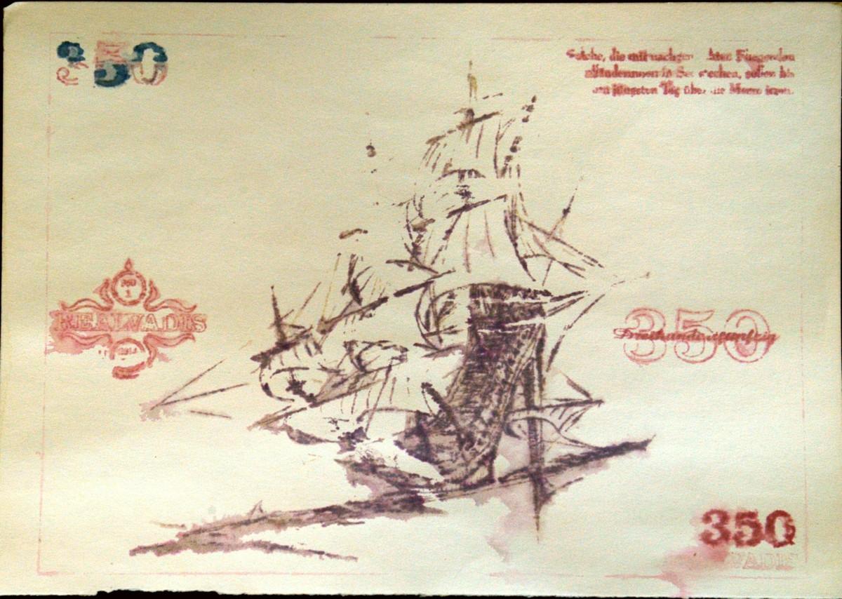 """REALVADIS Sachwertkupon 350 """"Die Fliegende Holländerin"""" by Bill d'Amacha"""