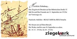 Einladung: REALVADIS by Bill d'Amacha im Ziegelwerk